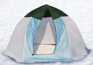 Как собрать зимнюю палатку?