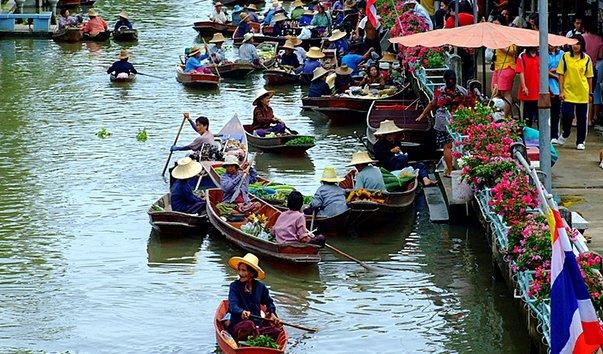 Плавучий рынок Та Ха