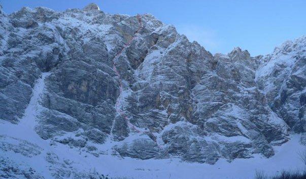 Северная сторона горы Триглав