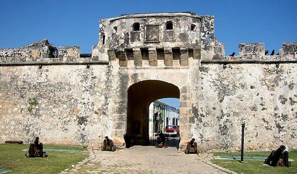 Старая городская стена Кампече
