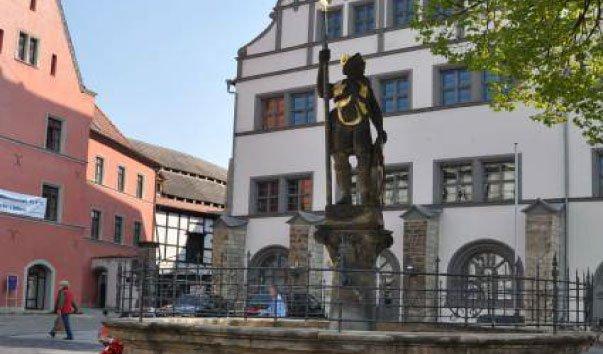 Вацлавский фонтан в Наумбурге